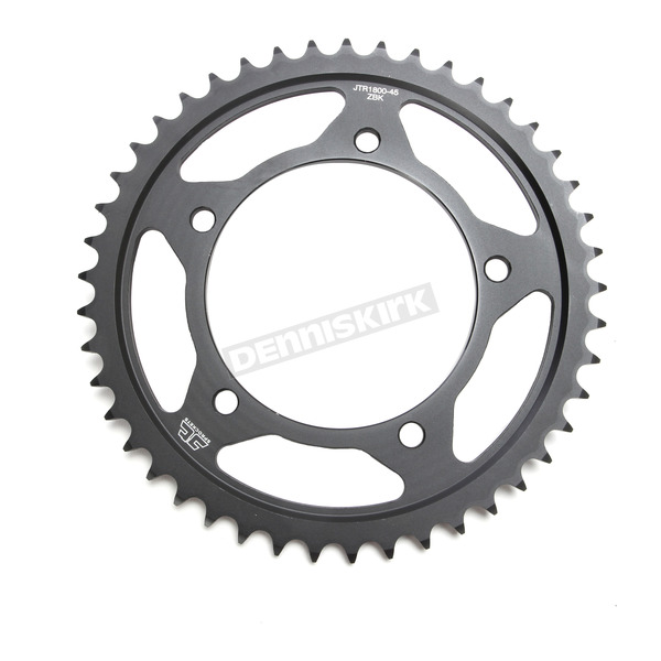 JT Sprockets Induction Hardened Black Zinc Finished 45 Tooth Rear Sprocket - JTR1800.45ZB