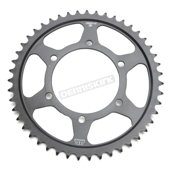JT Sprockets Induction Hardened Black Zinc Finished 47 Tooth Rear Sprocket - JTR2014.47ZB