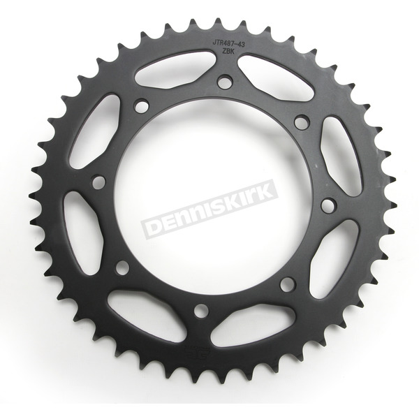 JT Sprockets Induction Hardened Black Zinc Finished 520 43 Tooth Rear Sprocket - JTR487.43ZBK