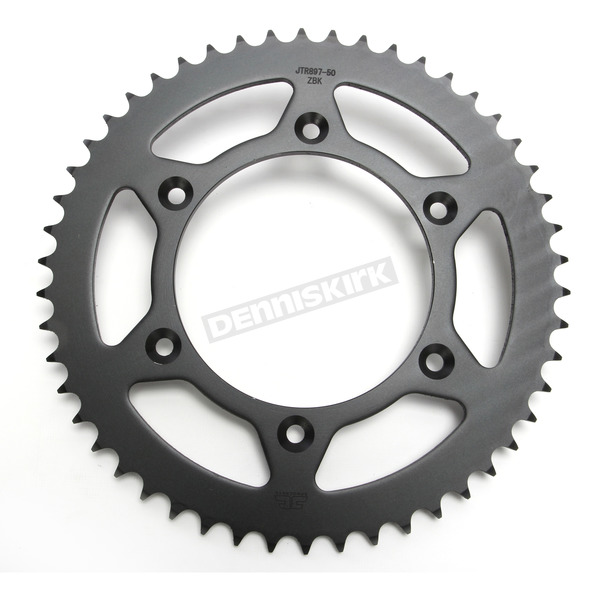 JT Sprockets Induction Hardened Black Zinc Finished 520 50 Tooth Rear Sprocket - JTR897.50ZBK