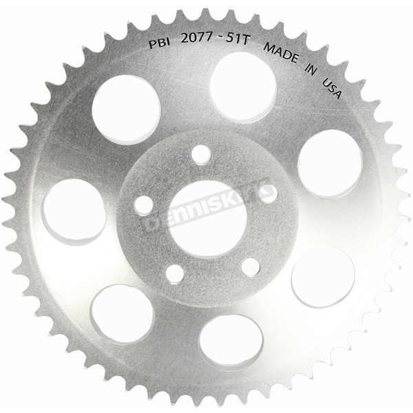 PBI Sprockets Aluminum Rear 51 Tooth Drive Sprocket - 2077-51C
