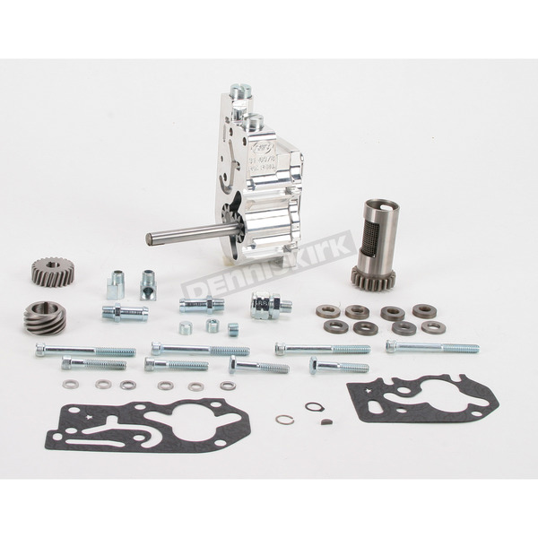 S&S Cycle Standard Style High Volume/High Pressure Polished Billet Oil Pump Kits - 31-6298