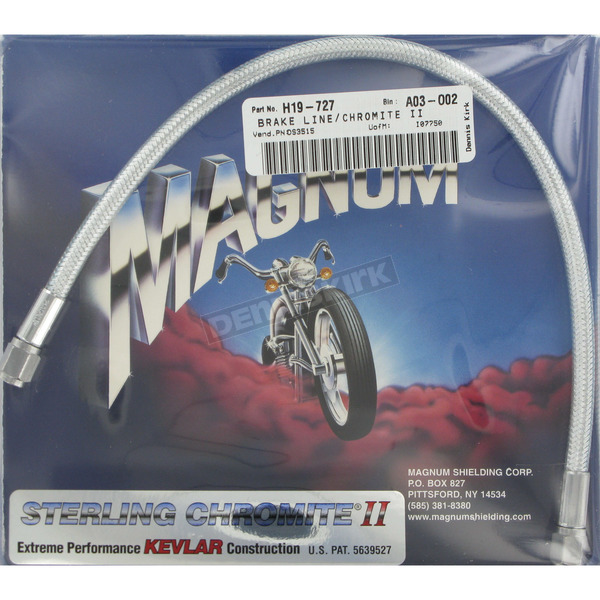 Magnum Custom Sterling Chromite II Designer Series Universal Braided Brake Line - 3515
