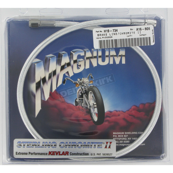 Magnum Custom Sterling Chromite II Designer Series Universal Braided Brake Line - 3528
