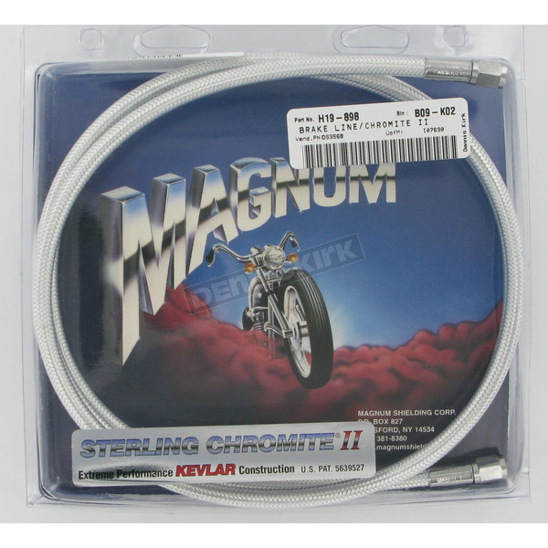 Magnum Custom Sterling Chromite II Designer Series Universal Braided Brake Line - 3568