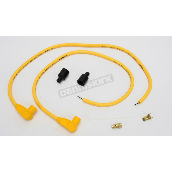 Sumax Yellow Universal 8mm Pro Wire Set w/90 Degree Boot - 76481