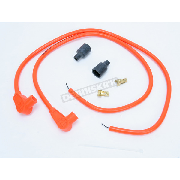 Sumax Orange Universal 8mm Pro Wire Set w/90 Degree Boot - 76881