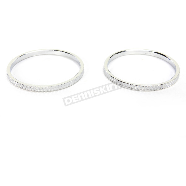 Kuryakyn Chrome Knurled Accent Rings for ISO Grips - 6220