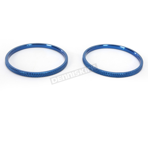 Kuryakyn Blue Knurled Accent Rings for ISO Grips - 6222