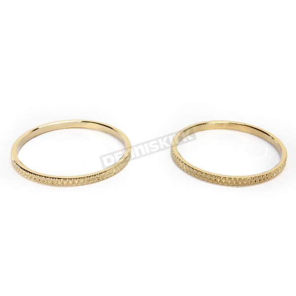 Kuryakyn Gold Knurled Accent Rings for ISO Grips - 6223