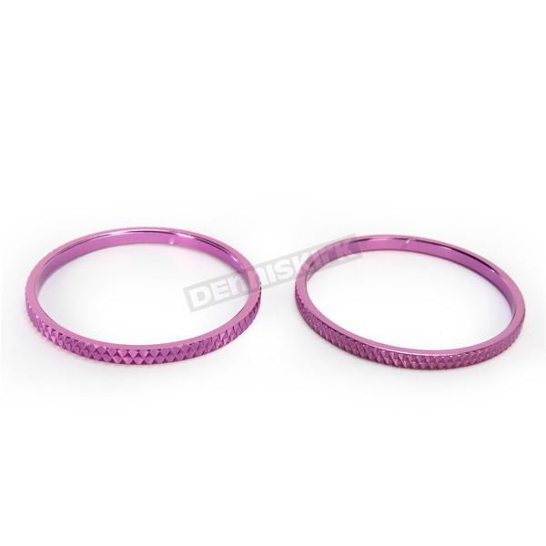 Kuryakyn Purple Knurled Accent Rings for ISO Grips - 6224