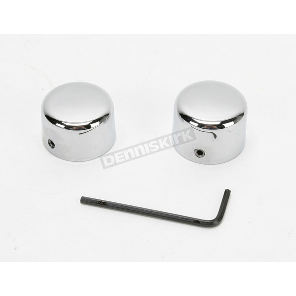 Drag Specialties Front Chrome Axle Caps - DS-222881