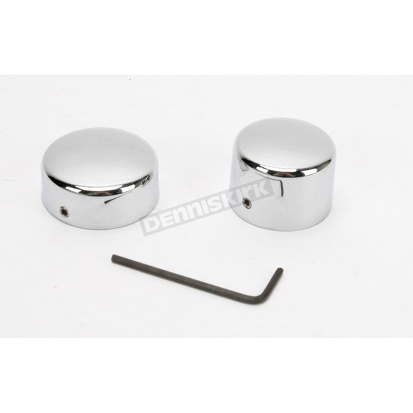 Drag Specialties Rear Chrome Axle Caps - DS-222884