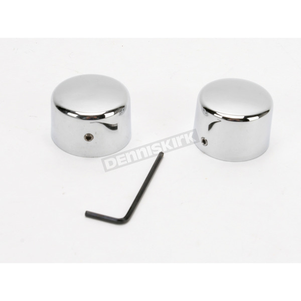 Drag Specialties Rear Chrome Axle Caps - DS-222885
