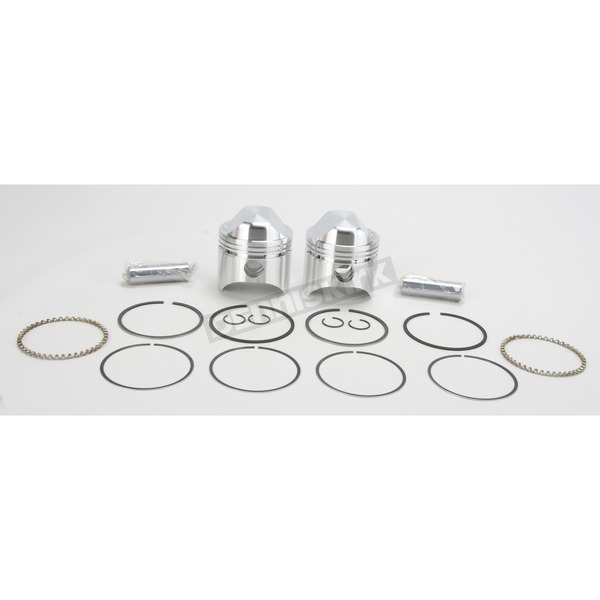 Wiseco High-Performance Forged Piston Kit - 3.228 in. Bore/10:1 Ratio - K1604