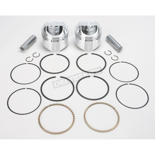 Wiseco High-Performance Forged Piston Kit - 3.537 in. Bore/9.5:1 Ratio - K1627