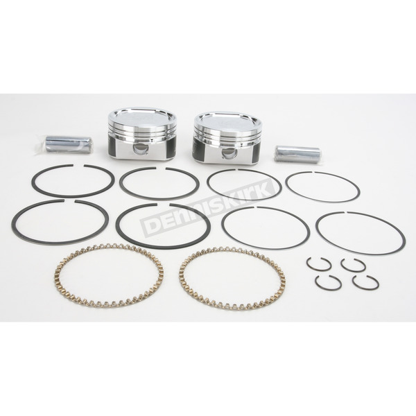 Wiseco High-Performance Forged Piston Kit - 3.538 in. Bore/9.5:1 Ratio - K1659