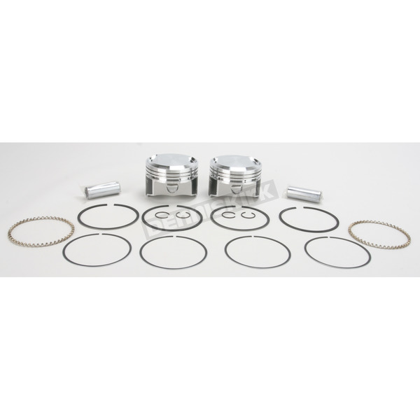 Wiseco High-Performance Forged Piston Kit - 3.528 in. Bore/10:1 Ratio - K1668