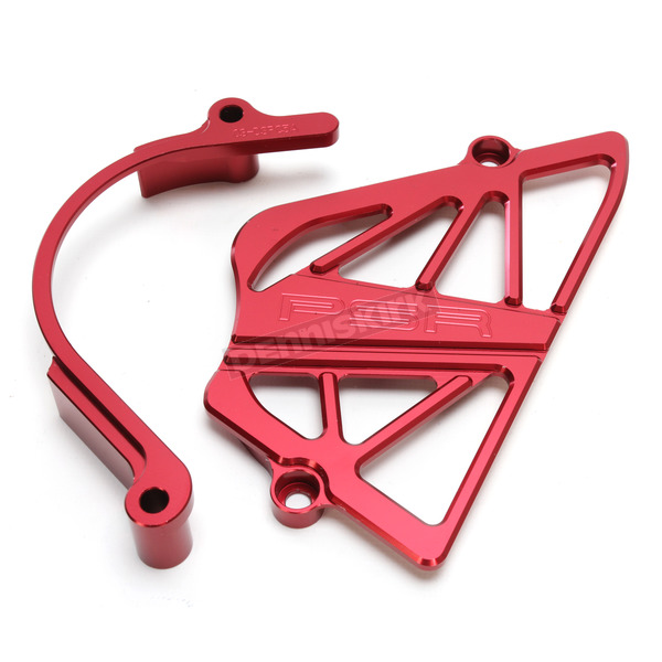 Powerstands Racing Red Case Saver/Sprocket Cover Kit - 03-04154-24