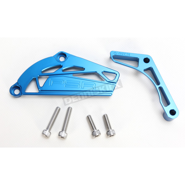 Powerstands Racing Blue Case Saver/Sprocket Cover Kit - 07-04151-25