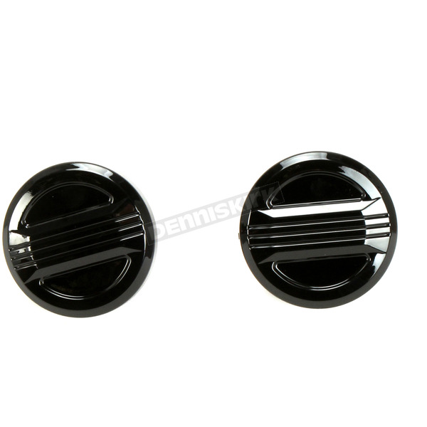 Black Three Line Vented & Non-Vented Gas Cap Set - 80089