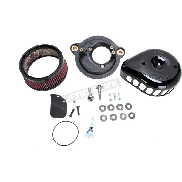 S&S Cycle Black Mini Teardrop Stealth Air Cleaner Kit - 170-0436A