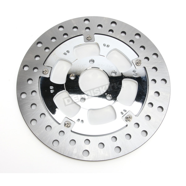 RC Components Chrome 11.8 in. Rear Right Majestic Two-Piece Brake Rotor - ZSSFLT117102CRR