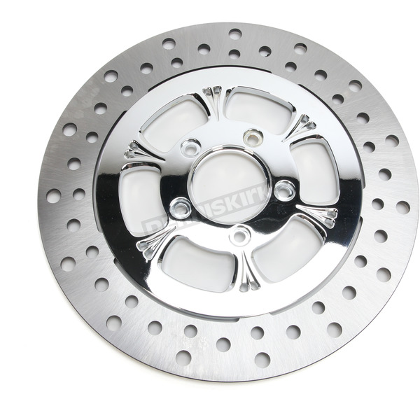 RC Components Chrome 11.5 in. Front Left Majestic Two-Piece Brake Rotor - ZSSFLT115102CLF