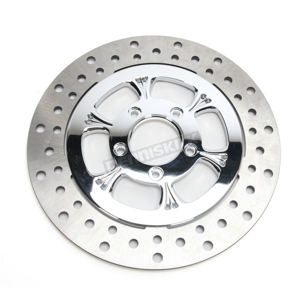 RC Components Chrome 11.5 in. Front Right Majestic Two-Piece Brake Rotor - ZSSFLT115102CRF
