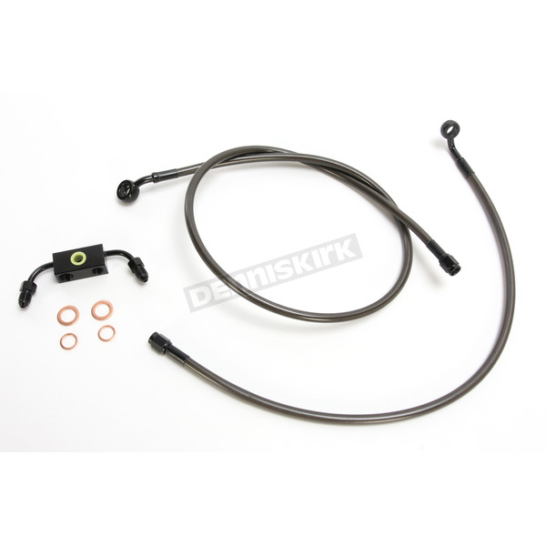LA Choppers Replacement Midnight Series Brake Line Kit For Use w/18