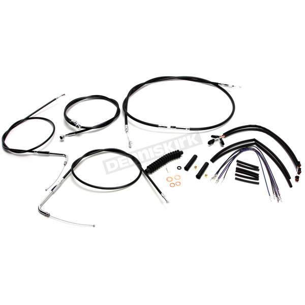 Magnum Black Vinyl XR Handlebar Installation Kit for use w/12