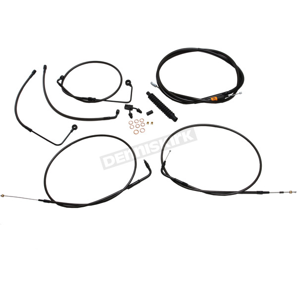Midnight Standard Handlebar Cable Kit for Ape Hangers 18