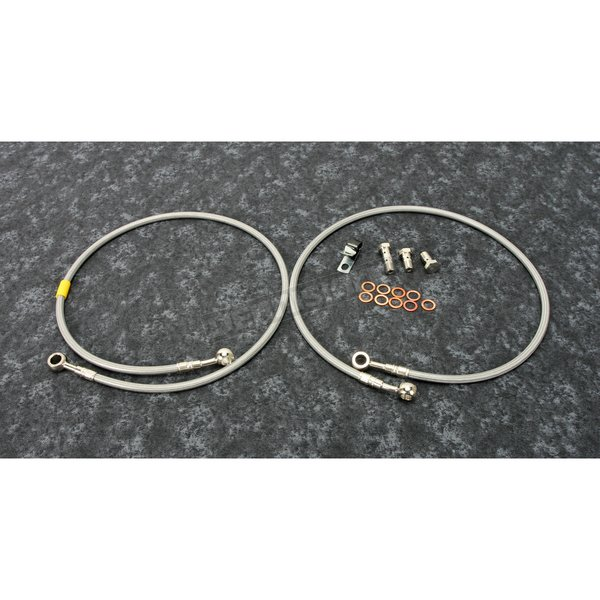 Stainless Steel Front Brake Line Kit - FK003D281-2
