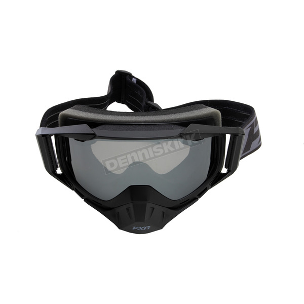 FXR Racing Black Ops Core Goggle w/Smoke Lens with Platinum Silver Finish - 173102-1000-00