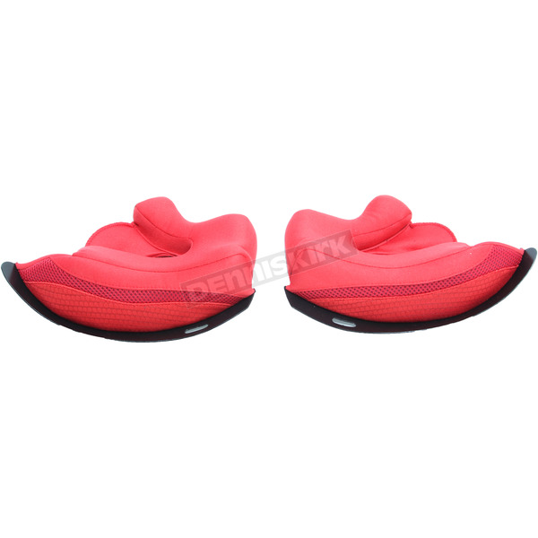 HJC  Red Cheek Pads for HJC FG-MX Helmet - 358-042