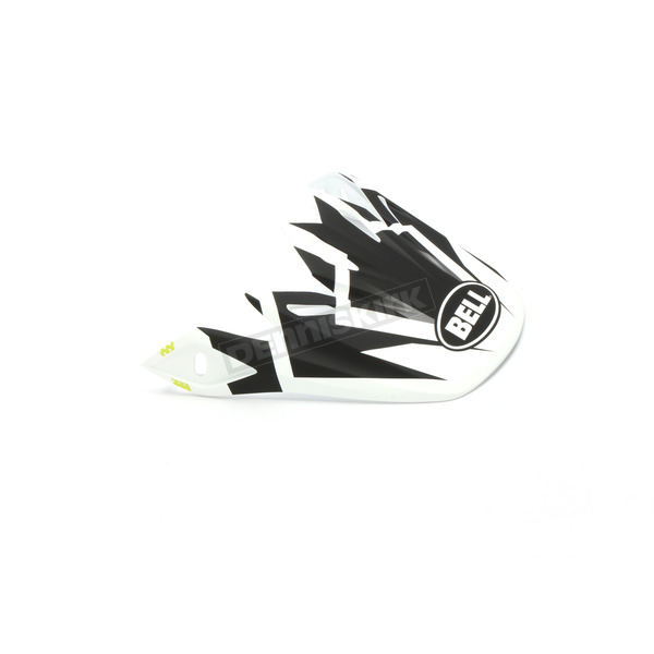 Matte White/Black Visor for Moto-9 MIPS District LE Helmet - 7097066