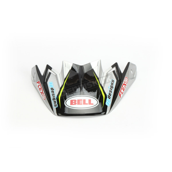 Black/Silver/Green/Blue Visor for Moto-9 Flex Pro Circuit Replica 19 Helmets - 7102614