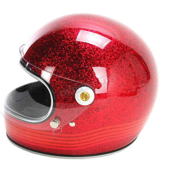 Biltwell Red Gringo S Spectrum Helmet - GS-RED-SPT-MD