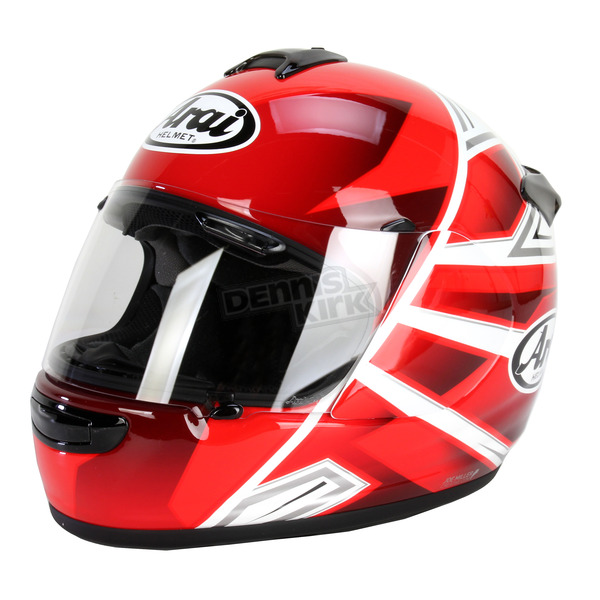 Arai Helmets Red/White/Black Vector-2 Hawk Helmet - 814424
