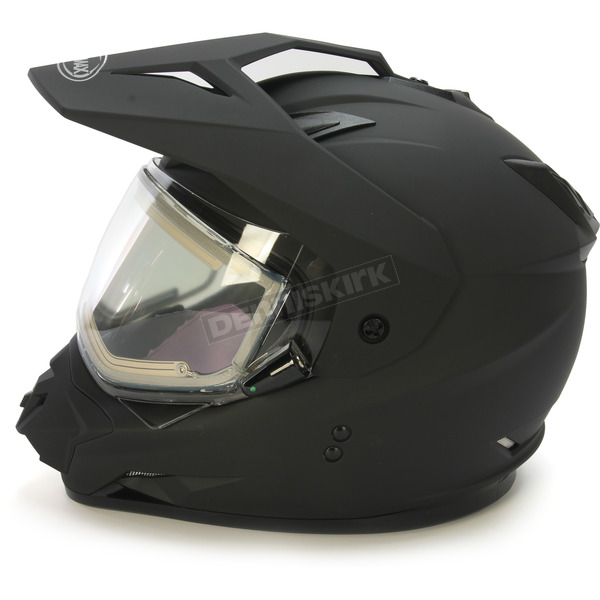 GMax Matte Black GM11S Snow Sport Snowmobile Helmet With Electric Shield - 72-7123M