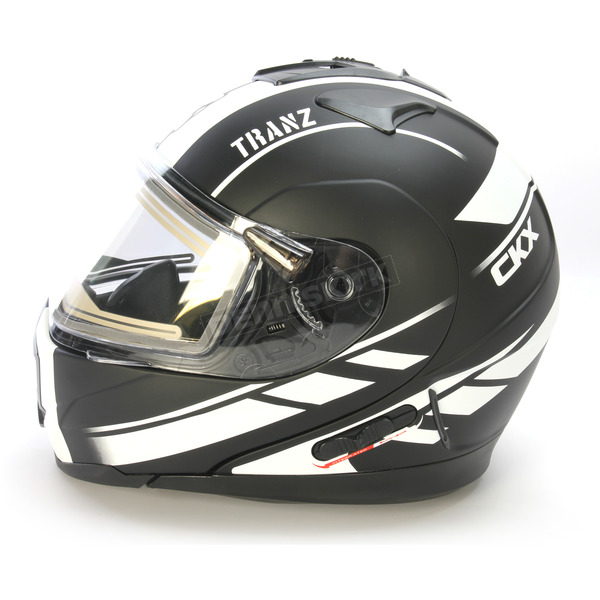 CKX Matte Black/White Tranz 1.5 RSV Slash Modular Snow Helmet w/Electric Shield - 501475