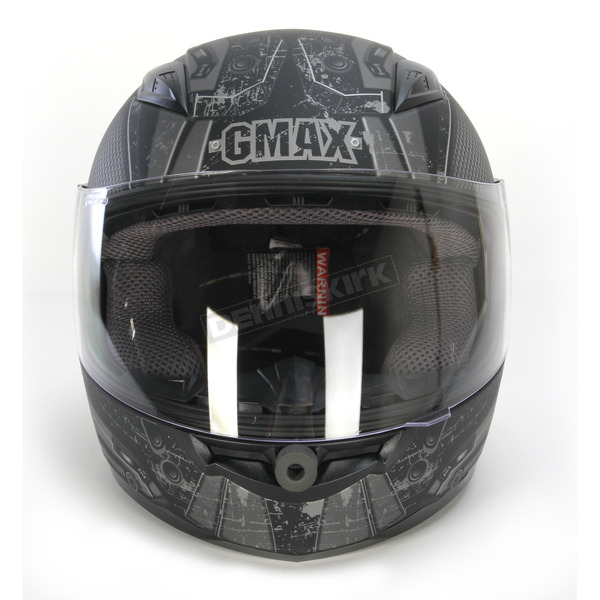 GMax Youth Flat Black/White/Silver GM49Y Trooper Street Helmet - G7495451 TC-17F