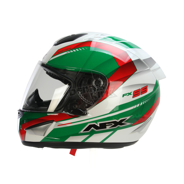 AFX White/Green/Red FX-95 Italy Helmet  - 0101-9597