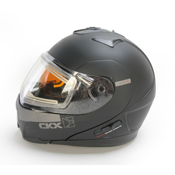 CKX Matte Black Tranz 1.5 RSV EVO Snow Modular Helmet w/Electric Shield - 503734