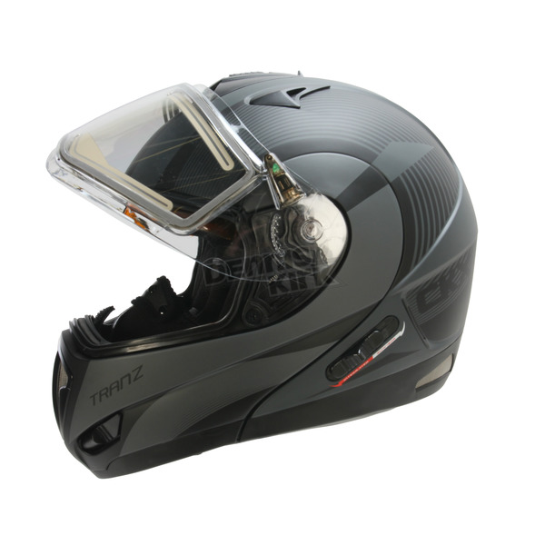 CKX Matte Gray/Black Tranz RSV Chronos Modular Snow Helmet w/Electric Shield - 505433