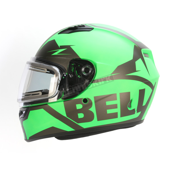 Bell Helmets Matte Green/Titanium Qualifier Momentum Snow Helmet w/Electric Shield - 7076154
