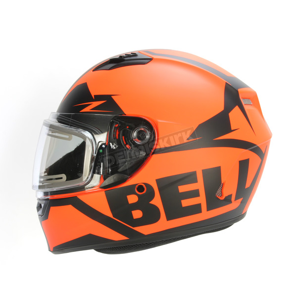 Bell Helmets Matte Orange/Black Qualifier Momentum Snow Helmet w/Electric Shield - 7076181