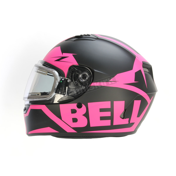 Bell Helmets Matte Pink/Black Qualifier Momentum Snow Helmet w/Electric Shield - 7076192