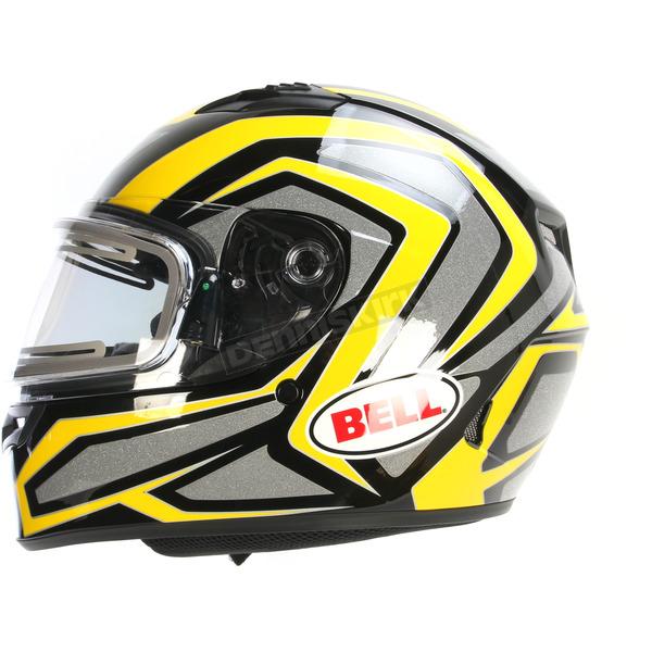 Bell Helmets Yellow/Titanium/Black Qualifier Machine Snow Helmet w/Electric Shield  - 7076214