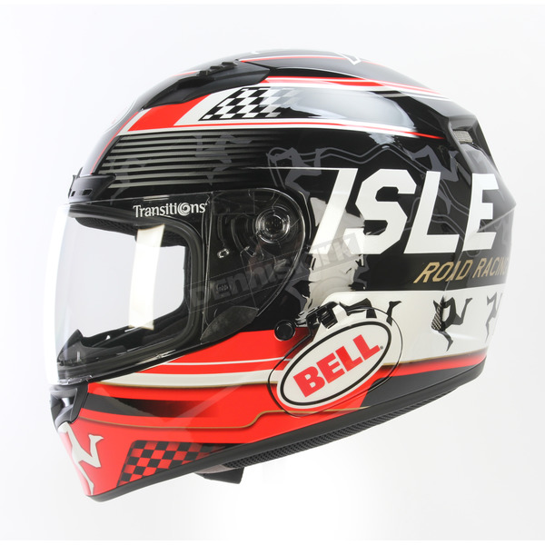 Bell Helmets Black/Red Qualifier DLX Isle of Man Helmet - 7081472
